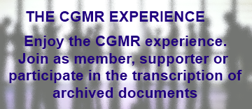 THE CGMR EXPERIENCE